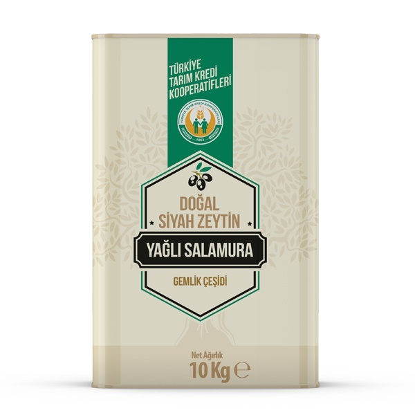 Doğal Siyah Zeytin Yağlı Salamura -M- (10 kg)