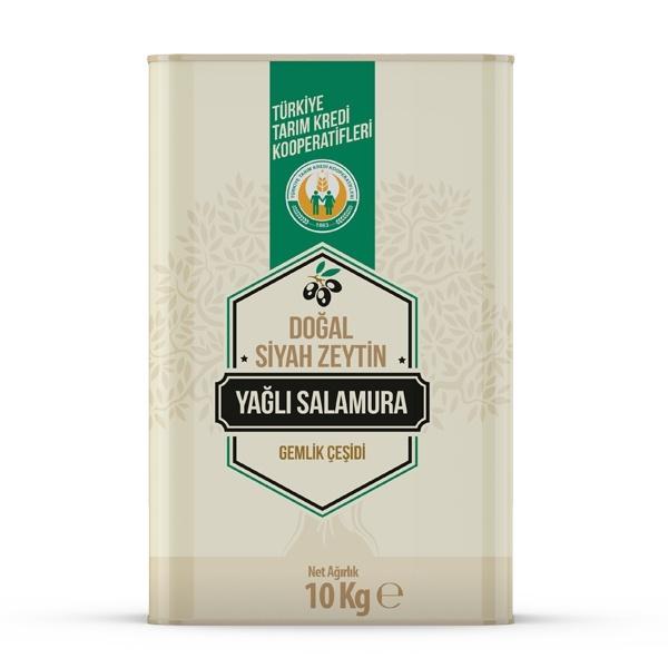 Doğal Siyah Zeytin Yağlı Salamura -S- (10 kg)