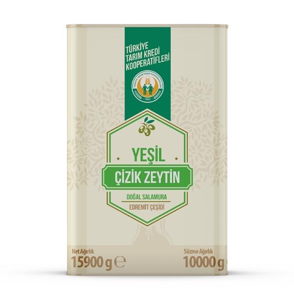 Yeşil Çizik Zeytin -L- (10 kg)