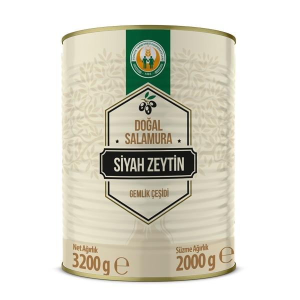 Gemlik Çeşidi Siyah Zeytin -2XS/3XS- (2000 g)