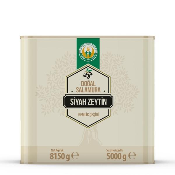 Gemlik Çeşidi Siyah Zeytin -2XS/3XS- (5000 g)