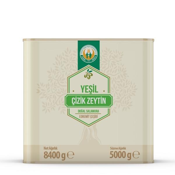 Yeşil Çizik Zeytin -M- (5 kg)