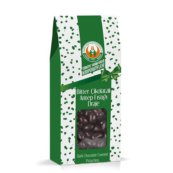 Bitter Çikolatalı Antep Fıstığı Draje (150 g)