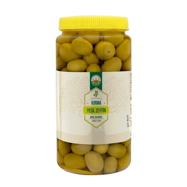 Domat Çeşidi Kırma Yeşil Zeytin -XL/L- (1000 g)