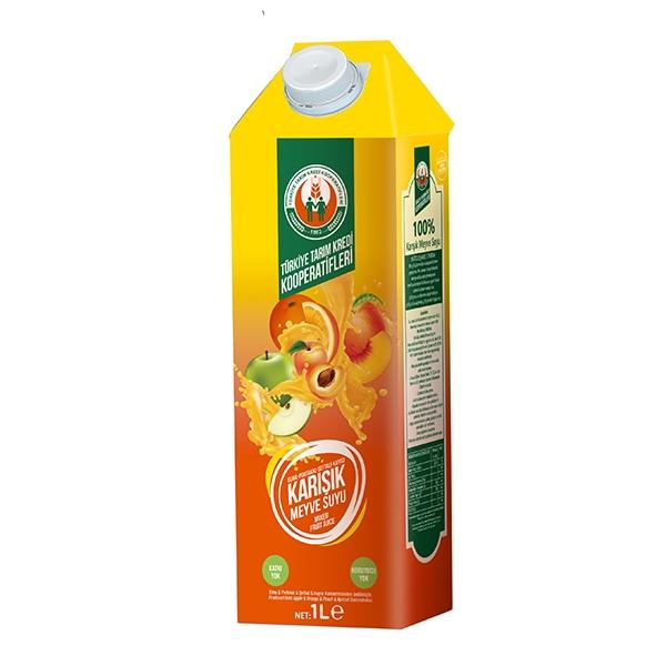 %100 Sarı Karışık Meyve Suyu 1000 ml
