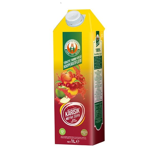 %100 Kırmızı Karışık Meyve Suyu 1000 ml
