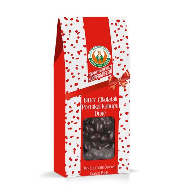 Bitter Çikolatalı Portakal Kabuğu Draje (150 g)