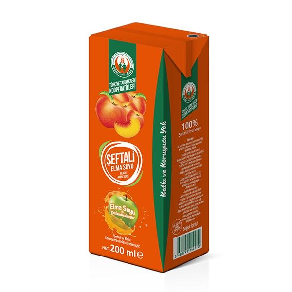 %100 Elma-Şeftali Suyu 200 ml