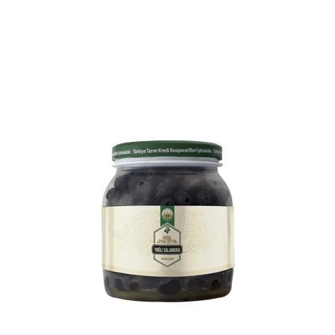 Doğal Siyah Zeytin Yağlı Salamura -L- (1000 g)