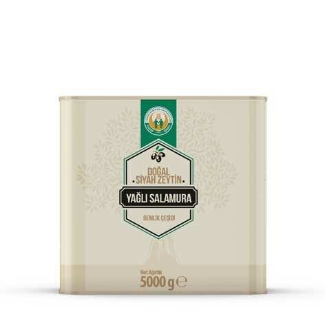 Doğal Siyah Zeytin Yağlı Salamura -XS- (5 kg)