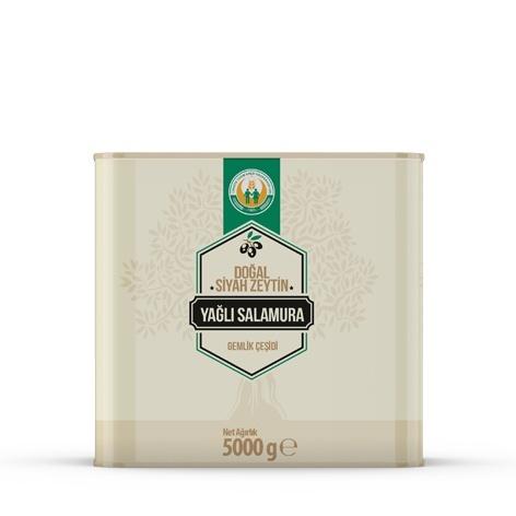 Doğal Siyah Zeytin Yağlı Salamura -M- (5 kg)